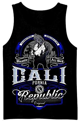 Hustle All Day California Mens Heavyweight T-Shirt Printed On Shaka Wear Tee