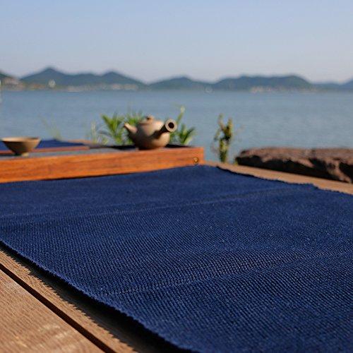 Purplish blue machine washable cotton woven carpet floor mat door mats of water-absorbing minimalist living room coffee table rug,165×240cm