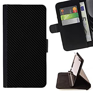 For Sony Xperia Z2 D6502 Carbon Fiber Pattern Grey Black Minimalist Style PU Leather Case Wallet Flip Stand Flap Closure Cover
