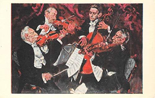 Comic Orchestra Postcard Unused