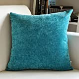 Thick Suede Pillow Solid Color Pillow Sofa Chair Cushion Multi-color Optional ( Color : E , Size : 5555cm )
