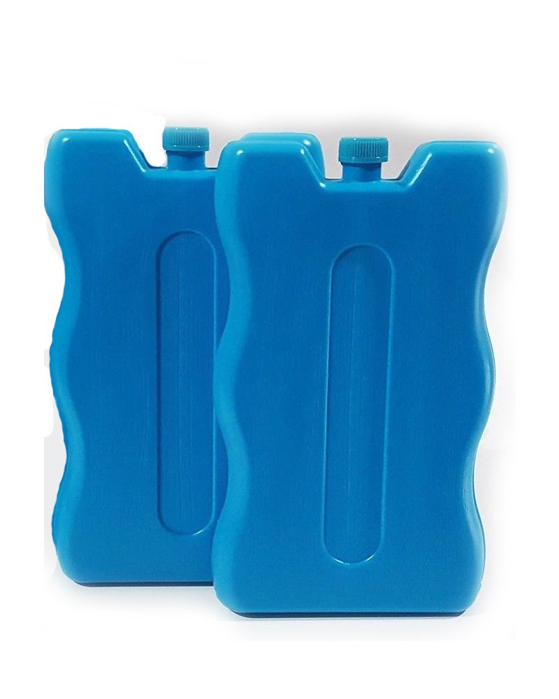 Blue 2 pack Reuseable Freeze Board Ice Blocks 200 Grams Cooler Blocks ideal for a Picnic ice blocks for cool bags lunch boxes cool boxes Family Motoring & Leisure