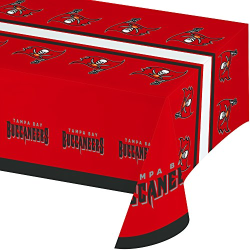 Creative Converting All Over Print Tampa Bay Buccaneers Plastic Banquet Table Cover