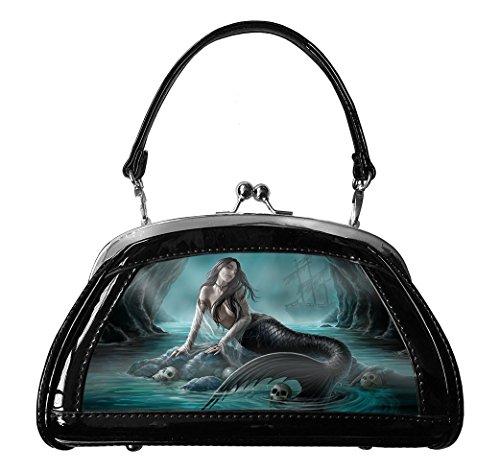 Sirens Lament - Clutch Bag Mermaid Lenticular 3D Evening Bag by Anne Stokes