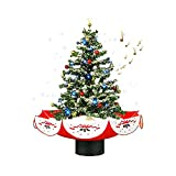 Favciuove Snowing Christmas Tree Top Star Lights Colorful Ornaments Christmas Decoration with Song