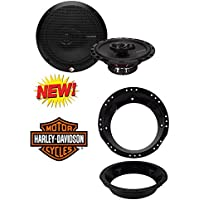 Rockford Fosgate R165X3 Prime 6.5-Inch Full-Range 3-Way Coaxial Speaker (Pair) With 6-1/2 to 6-3/4 Speaker Adapter for 1998-2013 Harley Davidson Touring Models