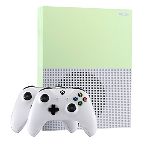 eXtremeRate® Glow in the Dark Console Sticker Skin Decal Sets for Microsoft Xbox One S Console Controller