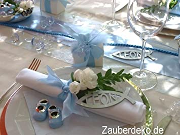 Amazon Com Zauberdeko De Set 25 Persons Blue Table Decorations