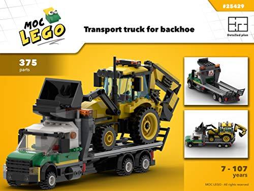 Transport truck for backhoe (Instruction Only): MOC LEGO por Bryan Paquette
