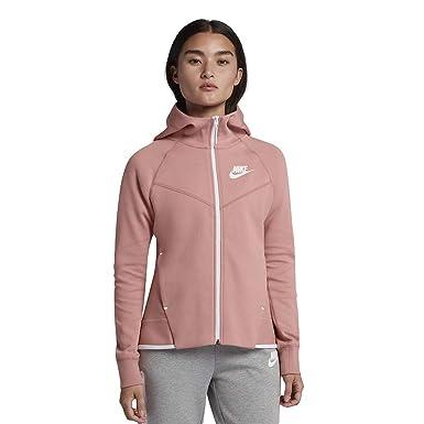 d85985b95 Nike Women's Tech Fleece Hoodie Pink White 930759-685 (XS) at Amazon ...