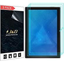 J&D [3-Pack] Lenovo Tab 4 10-inch Android Tablet Screen Protector, Premium HD Clear Film Shield Screen Protector for Lenovo Tab 4 10-inch Android Tablet