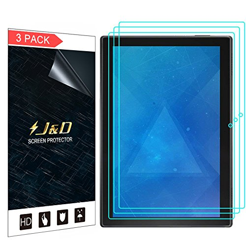 (J&D Compatible for 3-Pack Lenovo Tab 4 10-inch Android Tablet Screen Protector, Premium HD Clear Film Shield Screen Protector for Lenovo Tab 4 10-inch Android Tablet Crystal Clear Screen Protector)