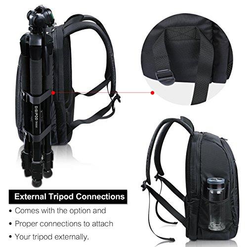 Estarer SLR/DSLR Camera Backpack for Nikon Canon Sony Digital Lens GoPro Accessories 15.6