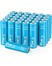 POWXS AA Batteries Alkaline 30 Count 1.5V Long Lasting Double AA Batteries for Wireless Game Controller, alarm clocks, and more - Blue