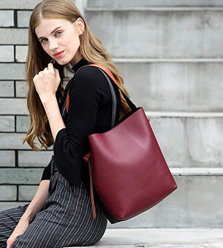 Borsa Mano Jl Tracolla Pelle lightgreen Moda Secchiello Di Moda Gray Casual In Contrasto Shopping A SYUqTxdU