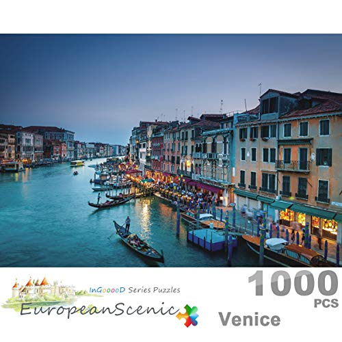 Ingooood- Jigsaw Puzzle 1000 Pieces- European Scenic Series- Venice_IG-0353 Entertainment Toys for Adult Special Graduation or Birthday Gift Home Decor