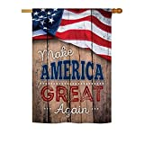 Proud to Make America Great Again Vertical House Large Outdoor Decoration Flag 28″ x 40″ For Sale