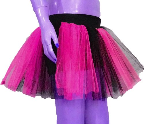 [Uv Neon Hot Pink 2 Tone Tutu Skirt Dance Fancy Costume Dress Party Free Shipping] (Uv Dance Costumes)