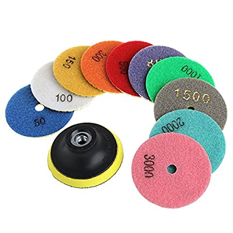 11Pcs/Set Diamond Polishing Pads Granite Marble Concrete Stone Grinding Discs 3