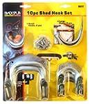 Blackspur Shed Hook Set - 10 Pieces B...