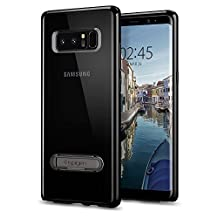 Galaxy Note 8 Case, Spigen Ultra Hybrid S - Air Cushion Technology and Magnetic Metal Kickstand for Samsung Galaxy Note 8 (2017) - Midnight Black