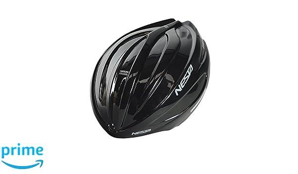 Nesta Fabel Aero Carcasa para Casco de Ciclismo, Unisex Adulto, Negro Brillo, Talla Única: Amazon.es: Deportes y aire libre
