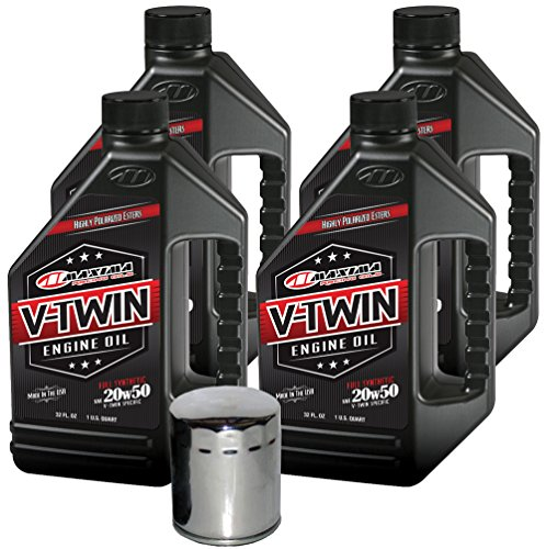 2004 Harley Fat Boy - MaximaHiflofiltro VTEOCK13 Full Synthetic Engine Oil Change Kit for Harley Davidson Twin Cam V-Twin - 4 Quart