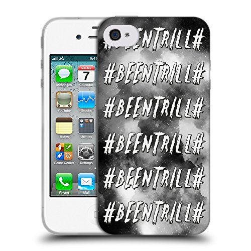Official Been Trill Galaxy Black And White Soft Gel Case for Apple iPhone 4 / 4S