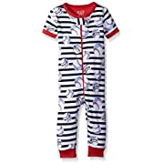 The Children's Place Baby Boys' Short Sleeve Printed Stretchie, Very White 81680, 0-3MONTHS