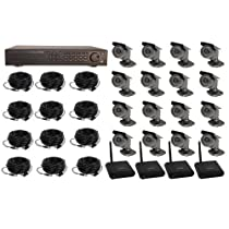 16CH DVR COMPLETE SYSTEM, 2TB HD 4 WIRELESS 12 WIRED WITHOUT MONITOR