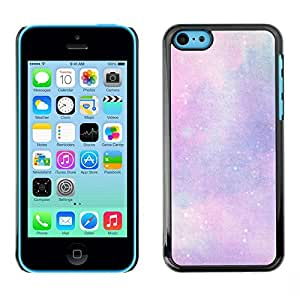 Rubber Case Hard Shell Cover Protective Accessory BY RAYDREAMMM - Apple iPhone 5C - Clouds Purple Pink Cosmos