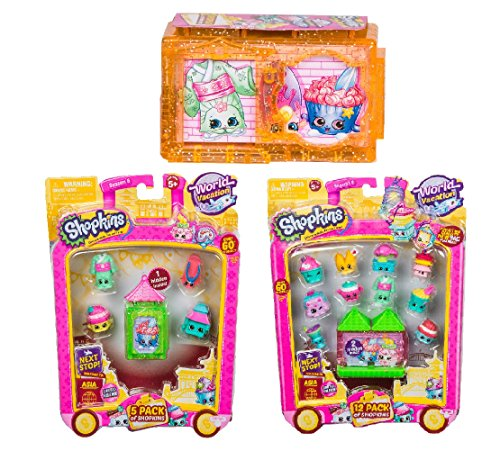Shopkins Season 8 wave 2 Asia Bundle 12 pack, 5 pack, 2 pack