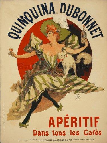 Quinquina Dubonnet Aperitif PARISIAN Liquor Ad Art PRINT circa 1895 - measures 24