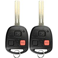 KeylessOption Keyless Entry Remote Control Uncut Car Master Key Fob For Lexus RX300 N14TMTX-1 (Pack of 2)