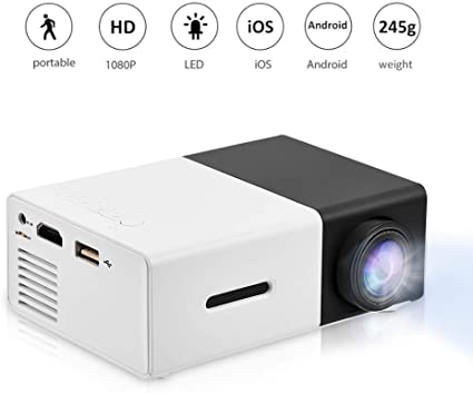 Amazon.com: Mini proyector portátil de 1080P LED proyector ...