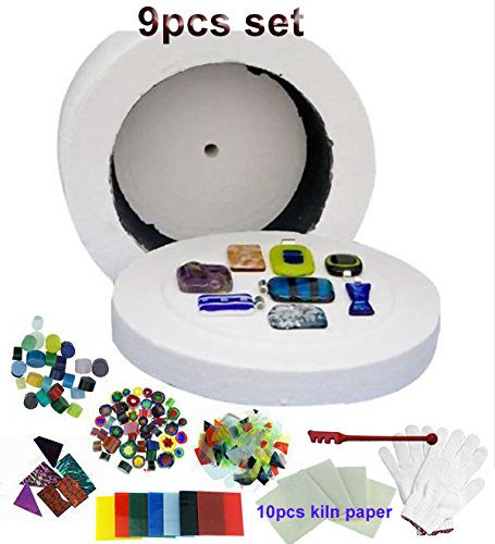 Promotion Professional Extra Large Microwave Kiln Kit 9 Piece Set-USPS fast shipping Glass Fusing Kiln SSH-0791