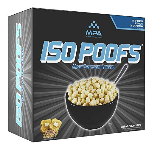 MPA Supps ISO POOFS™ (Protein poofs) French Toast Flavor, Protein Snack, Low Carb Snack, Low Fat Snack, Whey Isolate