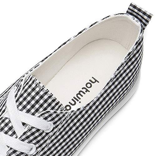 de Chaussures Plates Treillis Dames Chaussures à de Respirantes Carreaux Sport Toile SHI 5UqY1Y