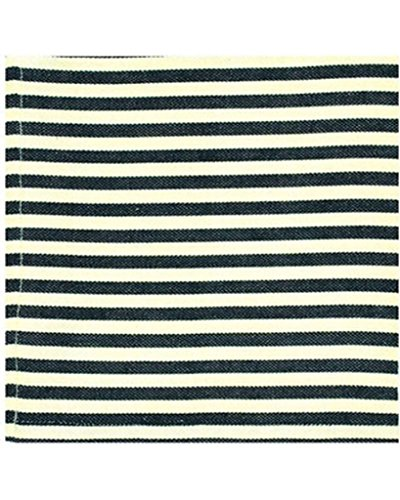 Design Imports Honey Bee Table Linens Black Petite Stripe Cotton Napkins 20-Inch by 20-Inch, Set of 4 ()
