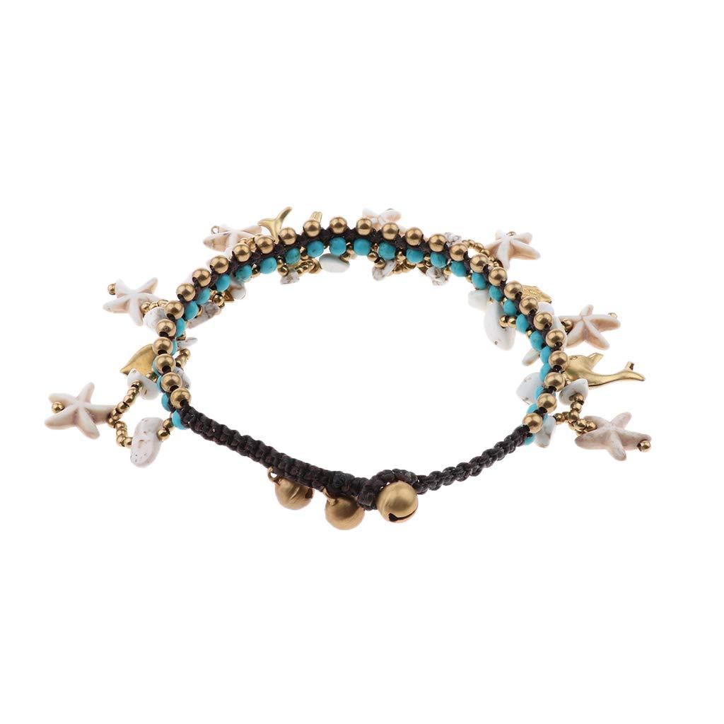 B Blesiya Cha/îne de Cheville Femme Bracelet R/églable Bijoux Mode pour Plage Soir/ée Mariage 24cm