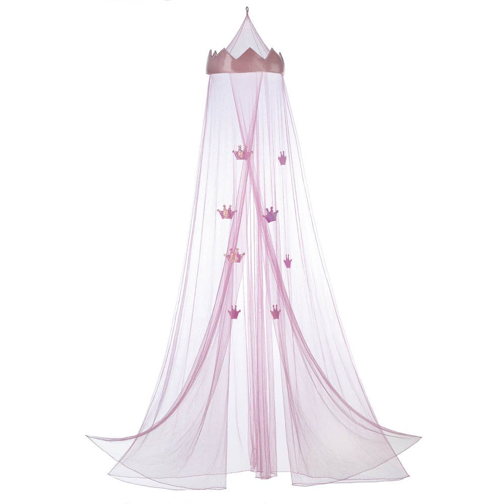 Accent Plus Mosquito Net Bed Canopy, Children Mesh Canopy Netting, Pink Princess Bed Canopy