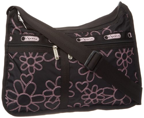 LeSportsac Deluxe Everyday Shoulder Bag,Joyful Embroidery,One Size, Bags Central