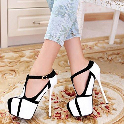 GetmorebeautyUpdate - Zapatos de tacón  mujer Blanco - blanco
