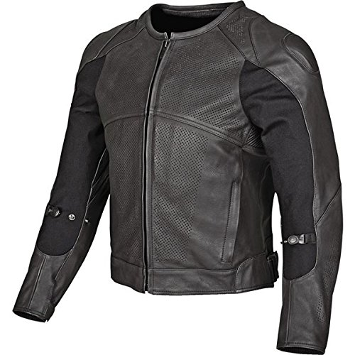 Speed and Strength Full Battle Rattle Men's Leather Street Racing Motorcycle Jacket - Black / Large