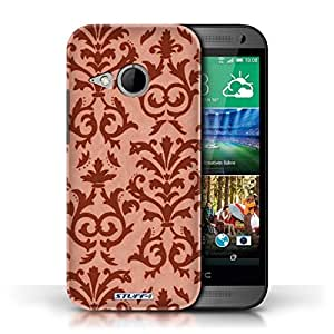KOBALT? Protective Hard Back Phone Case / Cover for HTC One/1 Mini 2   Red Design   Scroll Pattern Collection