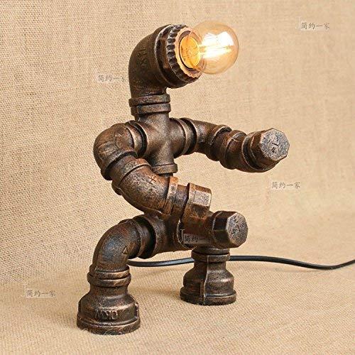 YLCJ Lámpara de mesa Retro lámpara industrial vintage lámpara E27 lámpara de mesa lámpara de agua de hierro lámpara de mesa lámpara de dormitorio lámpara de dormitorio