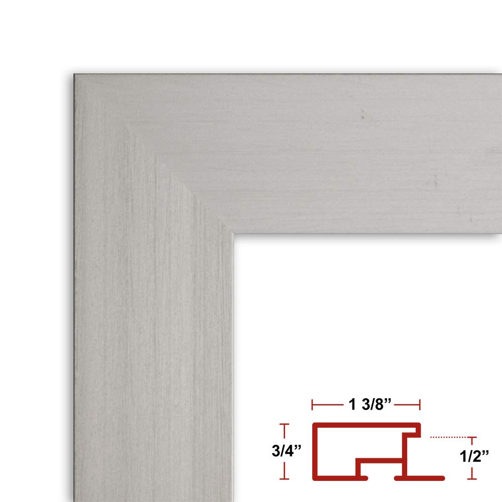 Frame It Easy 23 x 38 Satin Silver Metal Frame Profile #99