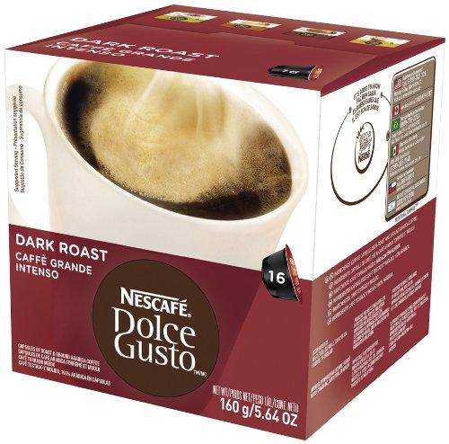 Nescafe Dolce Gusto Capsules, Dark Roast (Caffa Grande Intenso), 16 ct