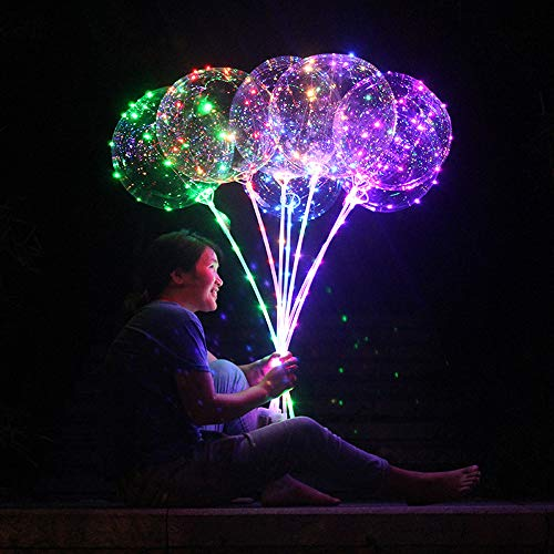 iZHH Reusable Luminous Led Balloon Transparent Round Bubble Decoration Party Wedding]()