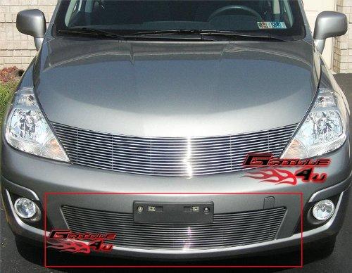 APS N66484A Polished Aluminum Billet Grille Bolt Over for select Nissan Versa Models